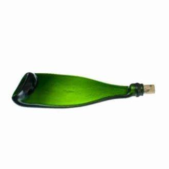 Padėkliukas iš putojančio vyno butelio su kamščiu