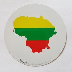 Droptop su Lietuva ir trispalve